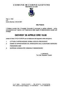 Albo Pretorio CC Rendiconto