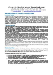 Informazioni Ruolo Bonifica-Irrigazione 2021