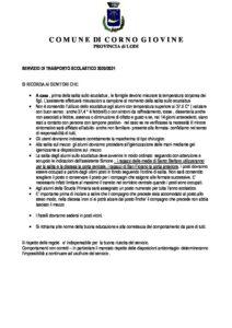 Scuolabus Regole anticovid