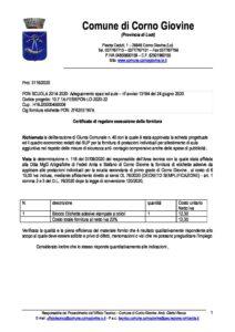 certificato collaudo etichette